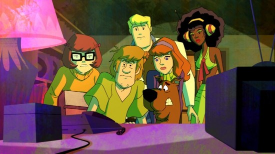 The Scooby gang with Angel Dynamite