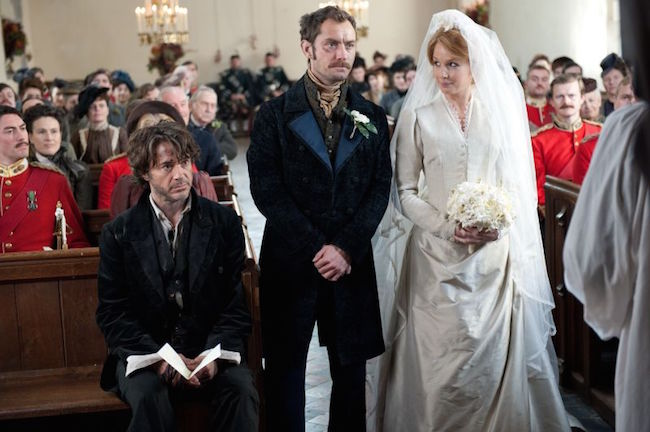 Holmes, Watson, and Mary at the wedding