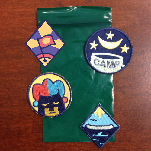 Lumberjanes patches by Kate Leth